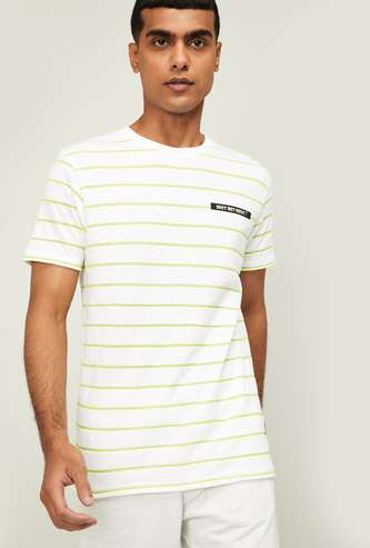 KAPPA Men Striped Regular Fit Crew Neck T-shirt
