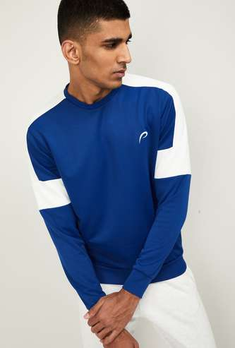 PROLINE Men Colourblock Full Sleeves Sweatshirt