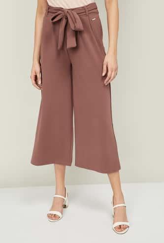 VAN HEUSEN Women Solid Culottes with Tie-Up Waist