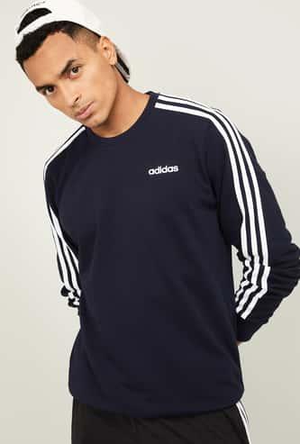 ADIDAS Men Striped Full Sleeves Sweatshirt