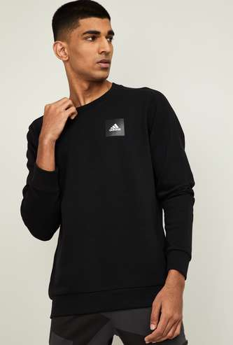ADIDAS Men Solid Crew Neck Sweatshirt