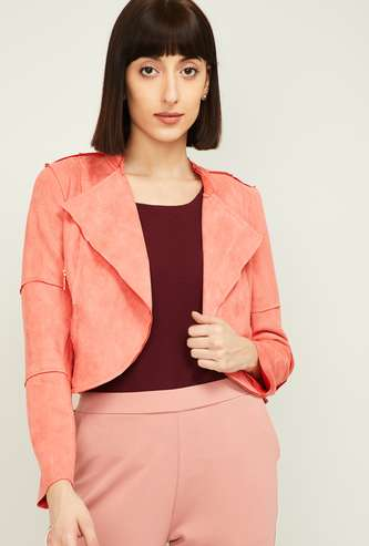 LATIN QUARTERS Women Textured Casual Jacket