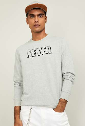 FORCA Men Printed Full Sleeves Sweatshirt