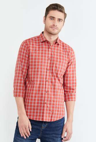 MAX Checked Full Sleeves CasualShirt