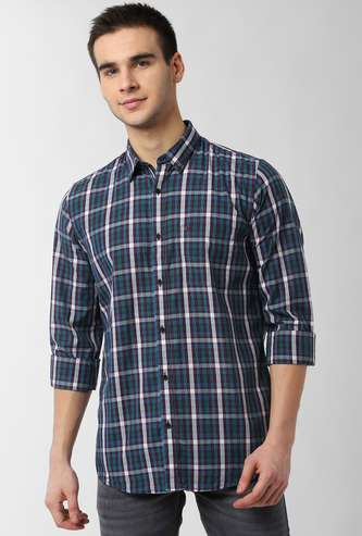 PETER ENGLAND Checked Full Sleeves Casual Shirt