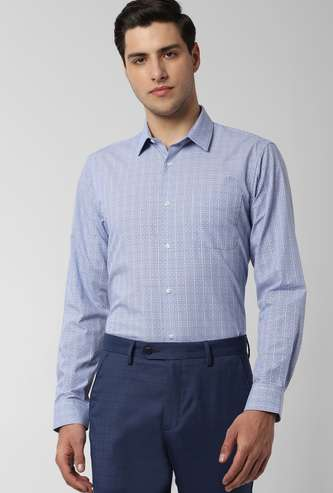 PETER ENGLAND Checked Full Sleeves Formal Shirt