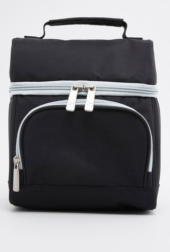 Solid Lunch Bag with Zip Closure