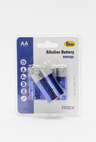 6-Piece AA Alkaline Battery Set