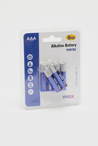 بطاريات قلوية AAA - طقم من 6 قطع