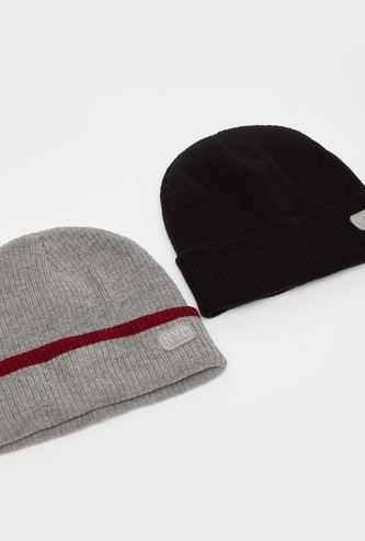 Set of 2 - Beanie Caps with Applique