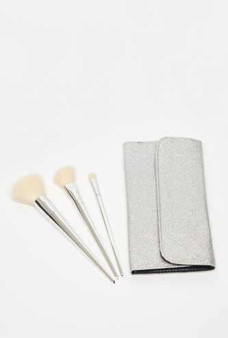 3-Piece Make-Up Brush and Pouch Set
