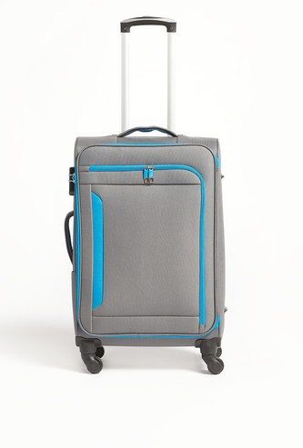 Solid Softcase Trolley Bag with Retractable Handle - 41x26.5x68 cms