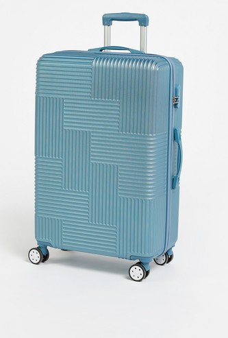Solid Hardcase Trolley Bag with Wheels and Retractable Handle - 49x29x74 cms