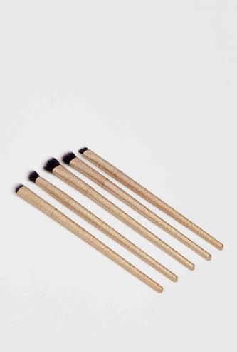 Textured 5-Piece Makeup Brush Set