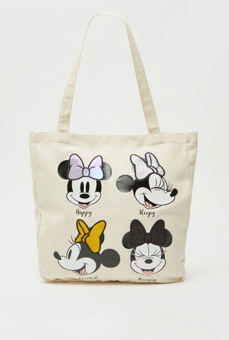 Minnie Mouse Print Tote Shopper Bag with Short Handles