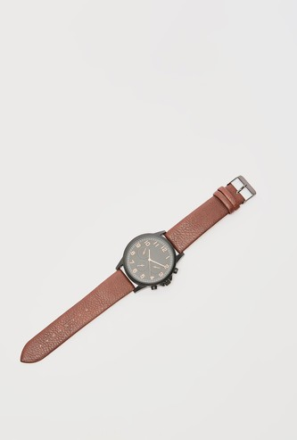 Analog Wristwatch with Pin Buckle Closure