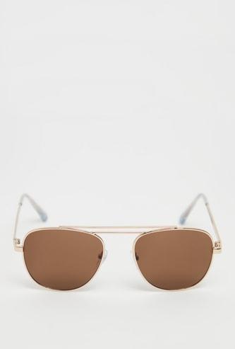 نظارة شمسية أفياتور سادة بإطار معدني