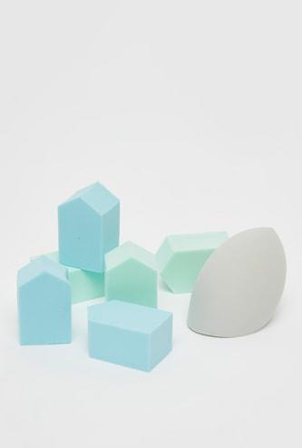 Solid 7-Piece Makeup Sponge Set