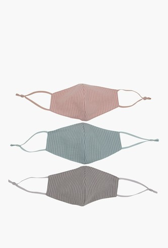 Set of 3 - Anti-Dust Reusable Face Mask with Adjustable Straps