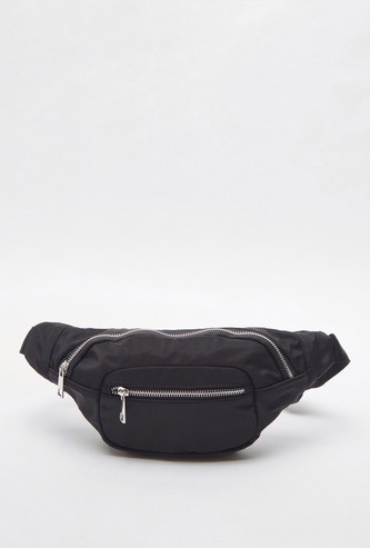 Solid Fanny Pack with Zip Closure