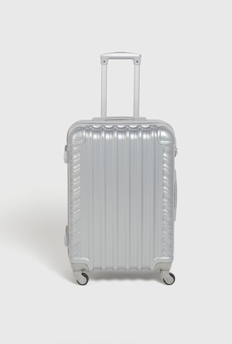 Textured Hardcase Trolley Bag with Swivel Wheels