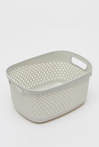 Storage Basket with Cutout Handles - 28x26x14 cms