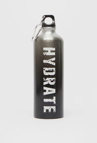 Text Print Aluminium Water Bottle - 750 ml