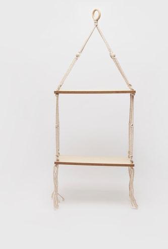 رف خشبي معلق - 30.2x10.5x5.7 سم