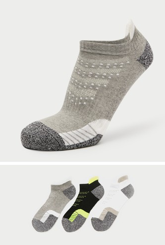 Set of 3 - Textured Ankle Length Sport Socks