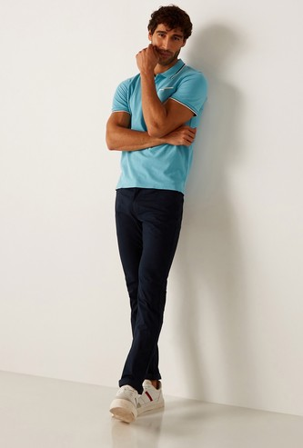 Skinny Fit Solid Jeans with Pocket Detail and Belt Loops