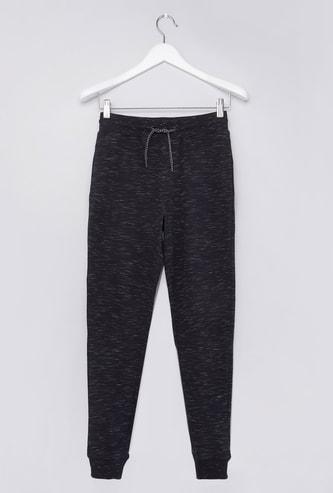 Full Length Printed Jog Pants with Pocket Detail and Drawstring