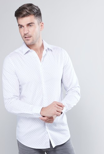 Printed Button Down Shirt with Long Sleeves