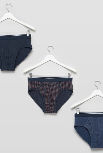 Set of 3 - Assorted Briefs with Elasticised Waistband