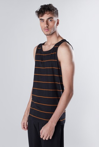 Striped Sleeveless Vest