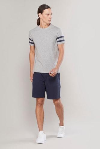 Knit Round Neck T-shirt and Shorts Set