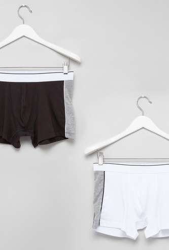 Set of 2 - Colour Block Trunks with Elasticised Waistband
