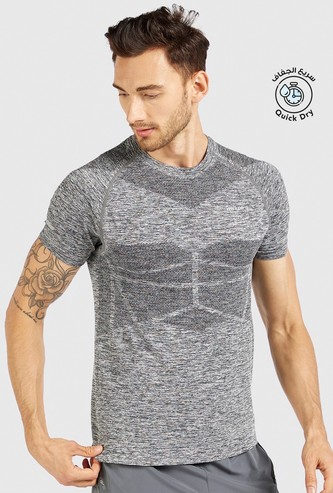 Printed Performance Compression T-shirt with Short Sleeves