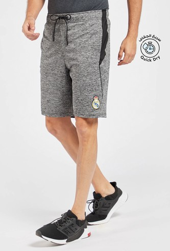 Textured Shorts with Drawstring Closure