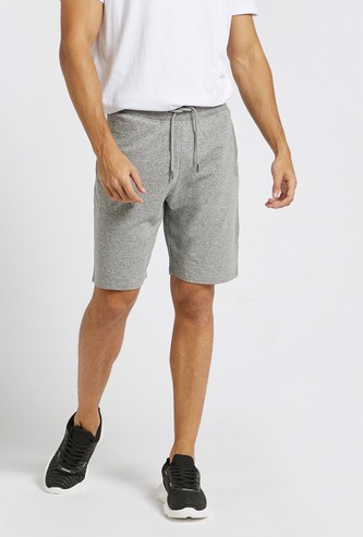 Grindle Textured Knee-Length Shorts with Elasticated Drawstring Waist