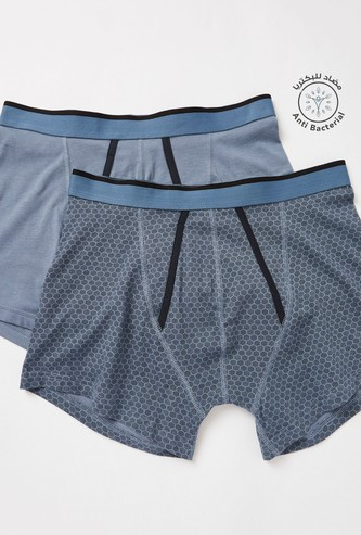 Pack of 2 - Assorted A-Front Trunks with Elasticised Waistband