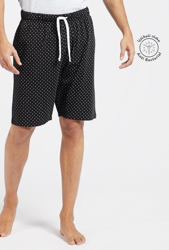 All-Over Print Lounge Shorts with Pocket Detail and Drawstring