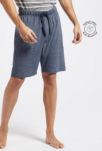 Printed Lounge Shorts with Pockets and Drawstring