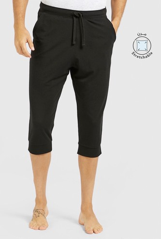 Solid Capris with Drawstring Closure
