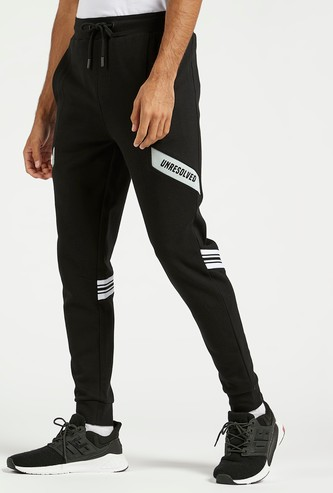 Printed Joggers with Elasticated Drawstring Waistband and Pockets