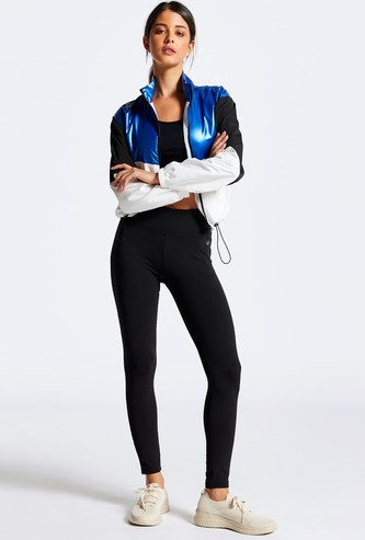 Quick Dry Mid-Waist Activewear Leggings with Elasticised Waistband