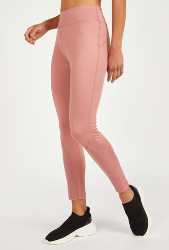 Slim Fit Plain Leggings with Elasticised Waistband