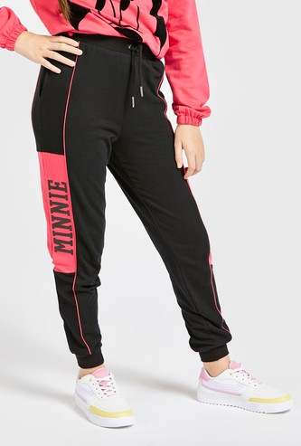 Minnie Mouse Side Panel Print Jog Pants with Pockets and Drawstring Closure