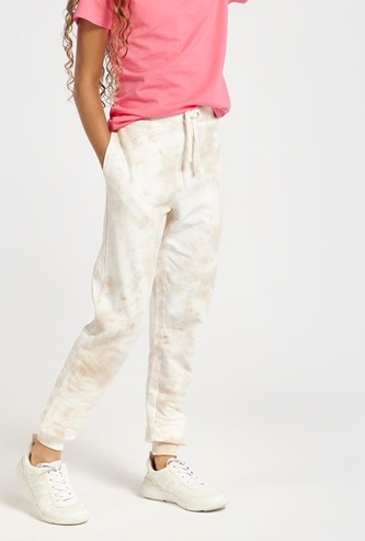 Tie-Dye Print Joggers with Drawstring and Pockets