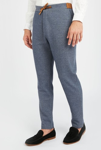 Textured Joggers with Drawstring Closure