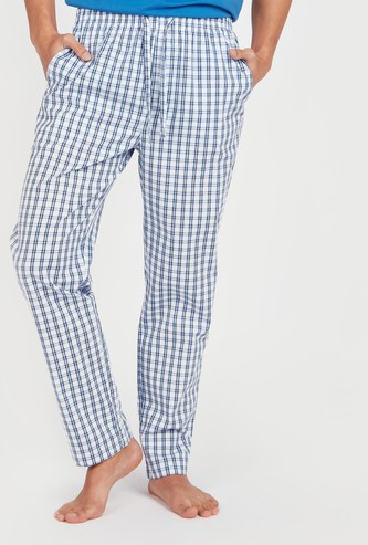 Chequered Pyjamas with Pocket Detail and Elasticised Waistband
